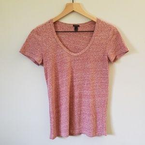 J. Crew Scoop-neck T-shirt in Slub Cotton
